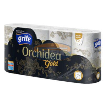 Grite Orchidea Gold 8 tekercses 3 rétegű toalettpapír (170 lap/tekercs)