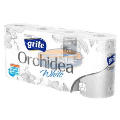 Grite Orchidea White 8 tekercses 3 rétegű toalettpapír (170 lap/tekercs)