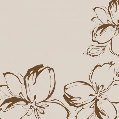 Flowers asztalközép 100x100 cm