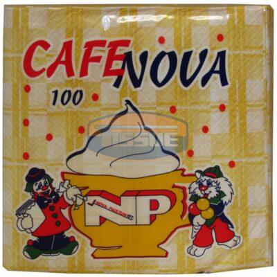 Cafe Nova szalvéta mintás 100 db-os