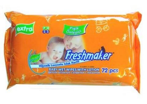 Freshmaker nedves törlőkendő 72 darabos