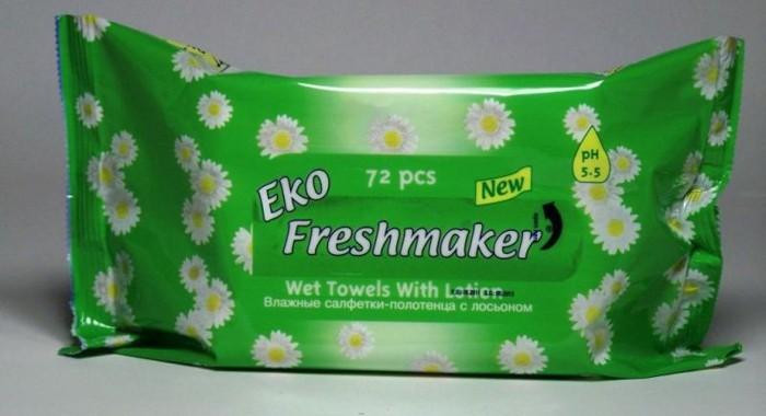 Freshmaker nedves törlőkendő Eco 72 darabos