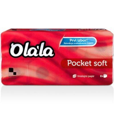 Olala Pocket Soft 8 tekercses 3 rétegű toalettpapír